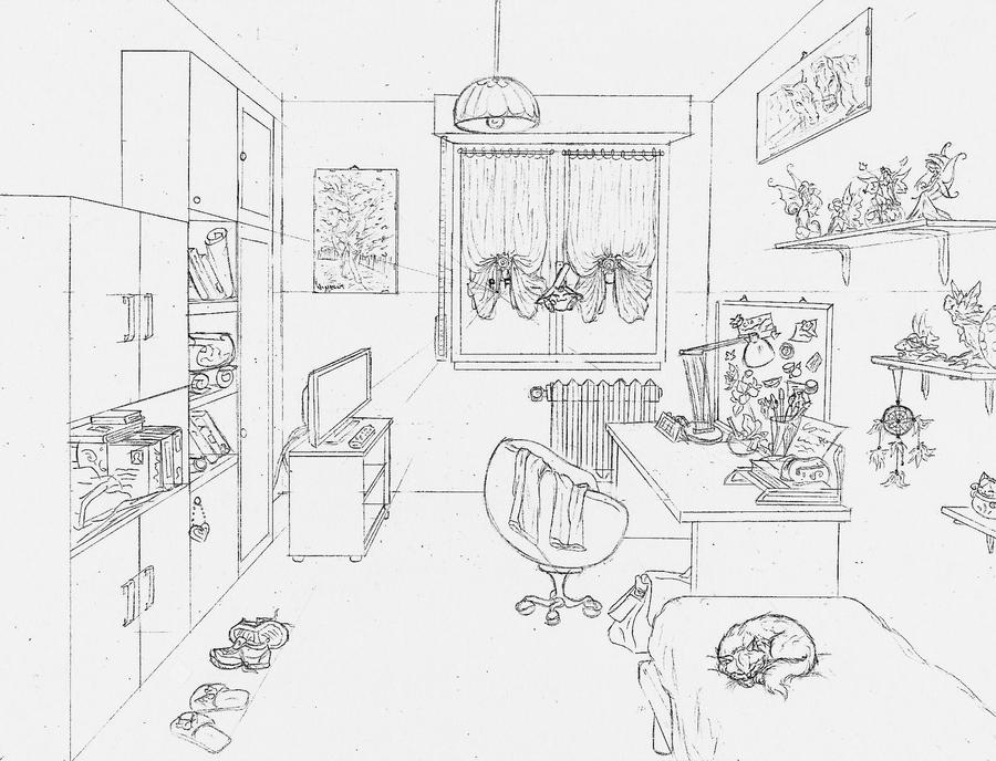 My room by giulal on deviantart for Draw my room