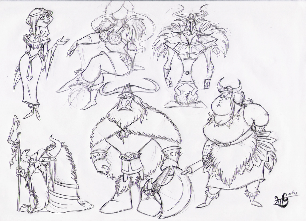 Viking Charcter Design Sketches By Giulal On DeviantArt