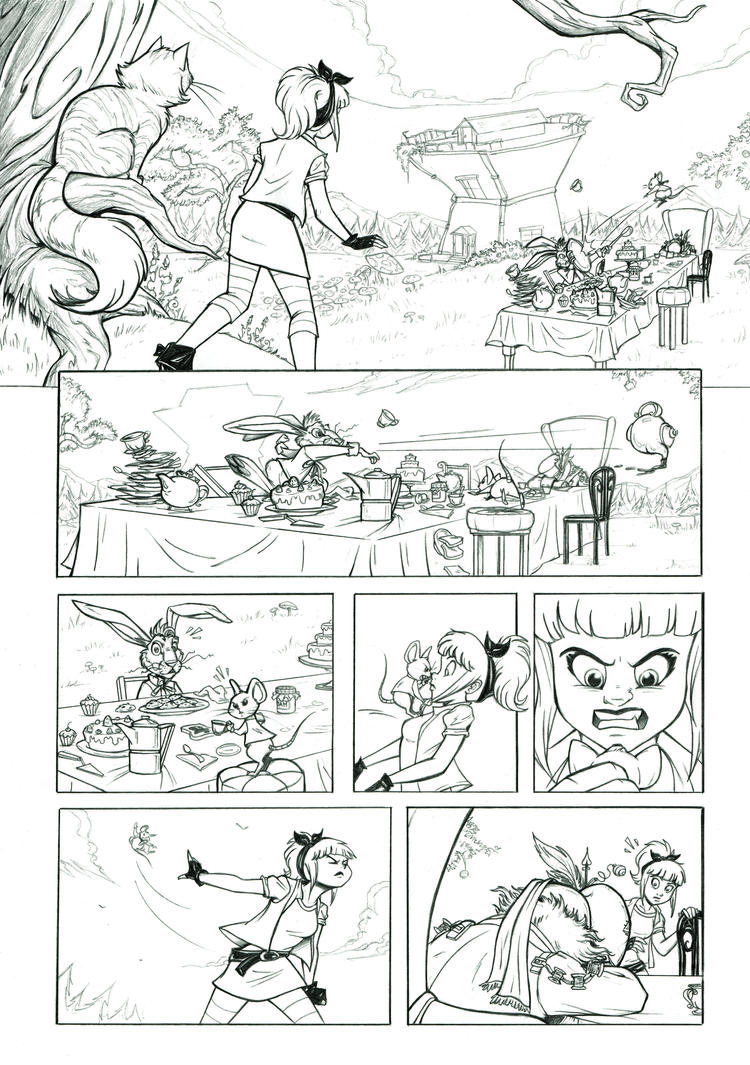 Alice in Wonderland - Pencils - 1 by giulal