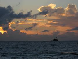 Island Sunset by Pixturesque