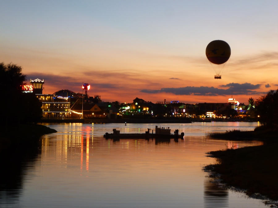 Downtown Disney at Dusk by BonzaiRen