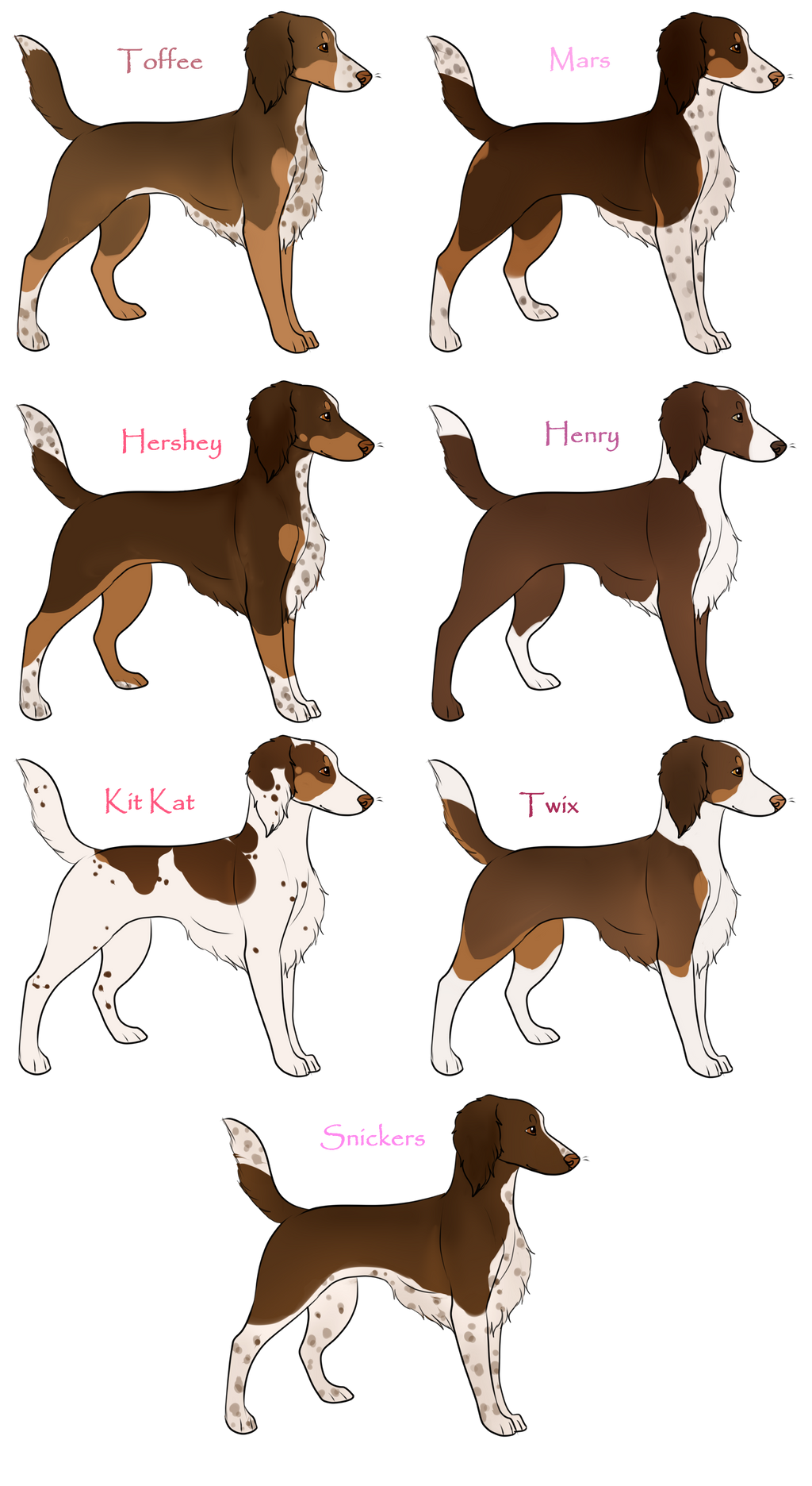 The Chocolate Bar Litter- CLOSED by NightshadeKennel on DeviantArt
