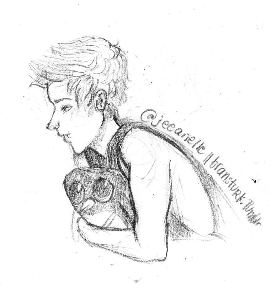 Pin 5sos Luke Hemmings Drawing on Pinterest