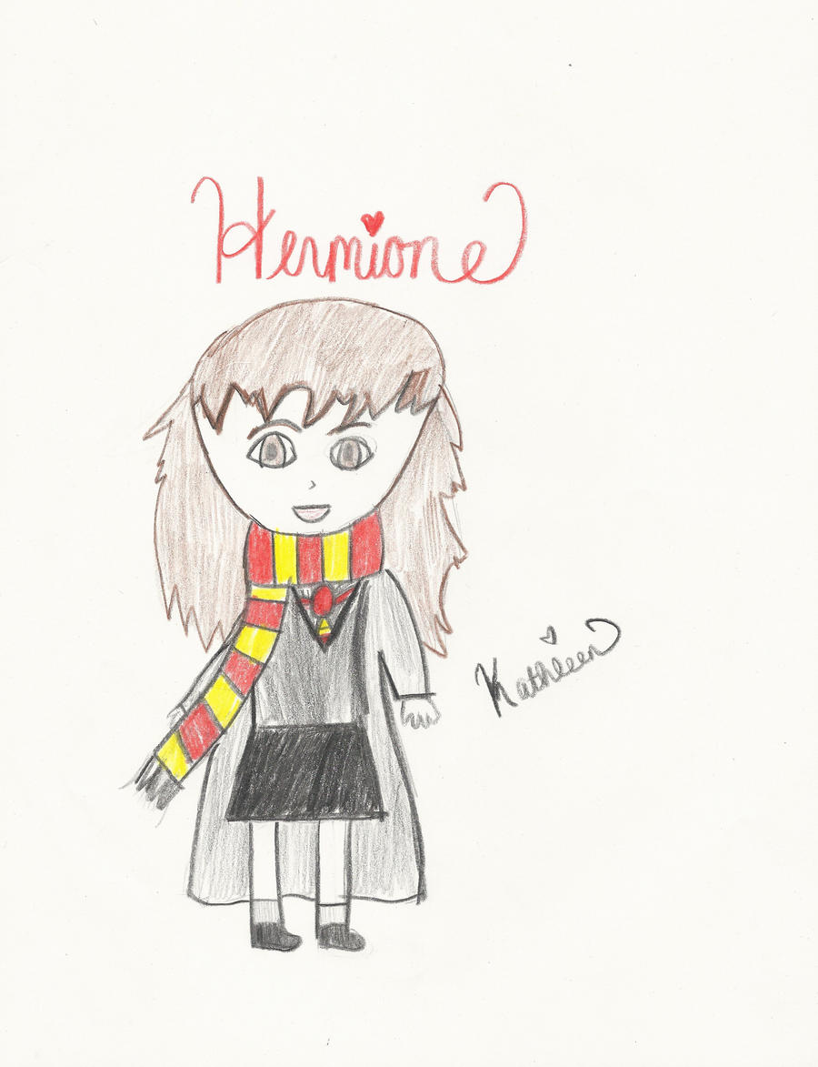 Hermione Granger Cartoon by xbeachgirl13