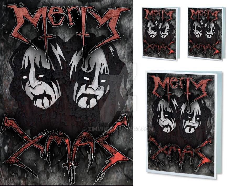 Black metal christmas by zimmii on deviantart