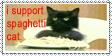 spaghetti cat by ICKYintimidation