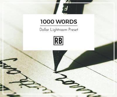 $1 Lightroom Preset - 1000 Words by RetouchingBlog