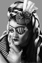 digi-painting Tairate Portrait by hoschie