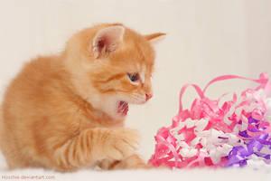 Little Kitty vs. Monster by hoschie