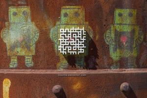 3dprint art meets Streetart by hoschie