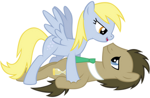 Derpy X Whooves by Ellittest