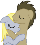 Sleep Derpy X Whooves