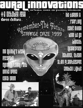 AURAL INNOVATIONS spacerock-zine front art #8, '99
