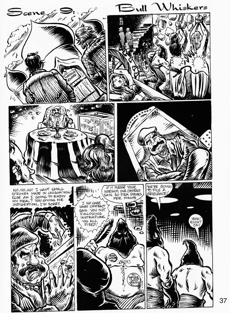 RASPBERRIES GN - inks and lettering by C. Mumford