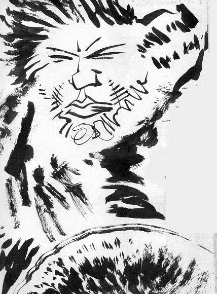 WARFACE pice from sketchbook - Ink and Brush