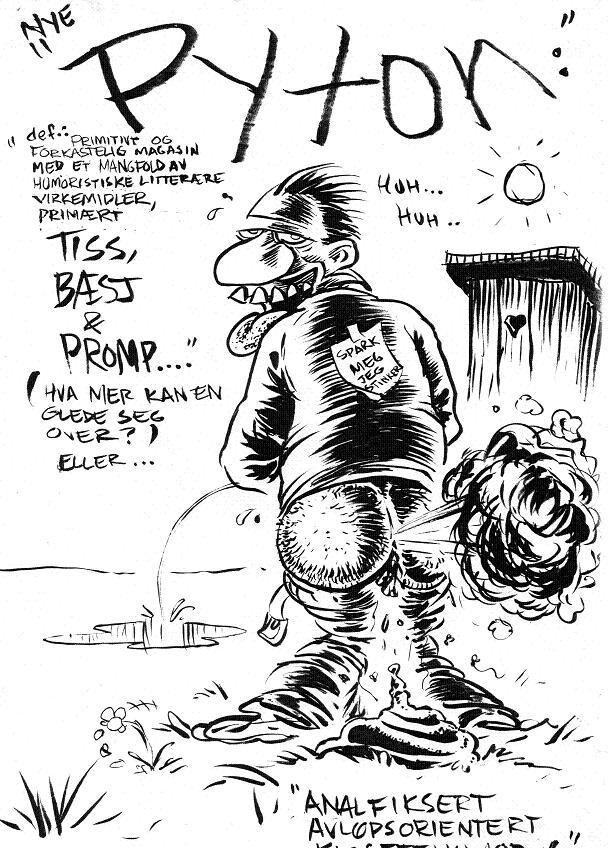 Unpublished 1996 PYTON art (rejected!)