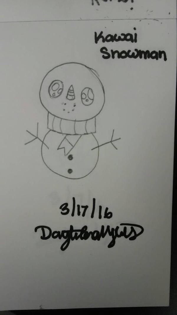 Kawaii Snowman.  by MadHatterNeko1028