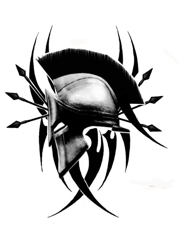 spartan tattoo by broly1337 on deviantart. Black Bedroom Furniture Sets. Home Design Ideas