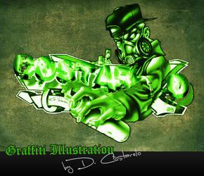 Graffiti Illustration by D-Costarelo