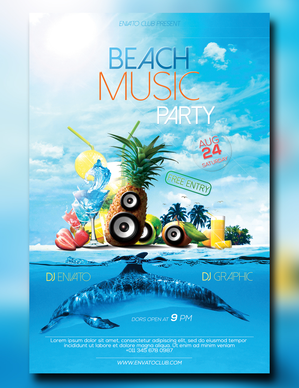 Beach Music Party Flyer by Romich-Studio on DeviantArt