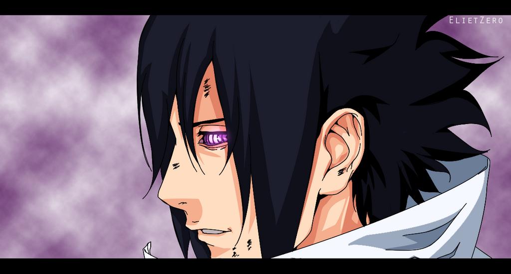 Sasuke Lineart : Sasuke colored by elietzero on deviantart