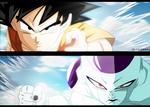 Fukkatsu no F Manga #3 Goku and Freezer Colored by ElietZero