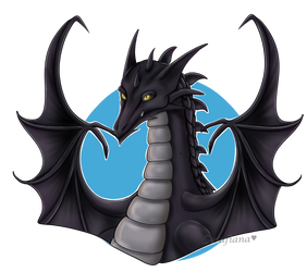 |Bust Freebie| Dragon form Kanrik by SerafianaArts