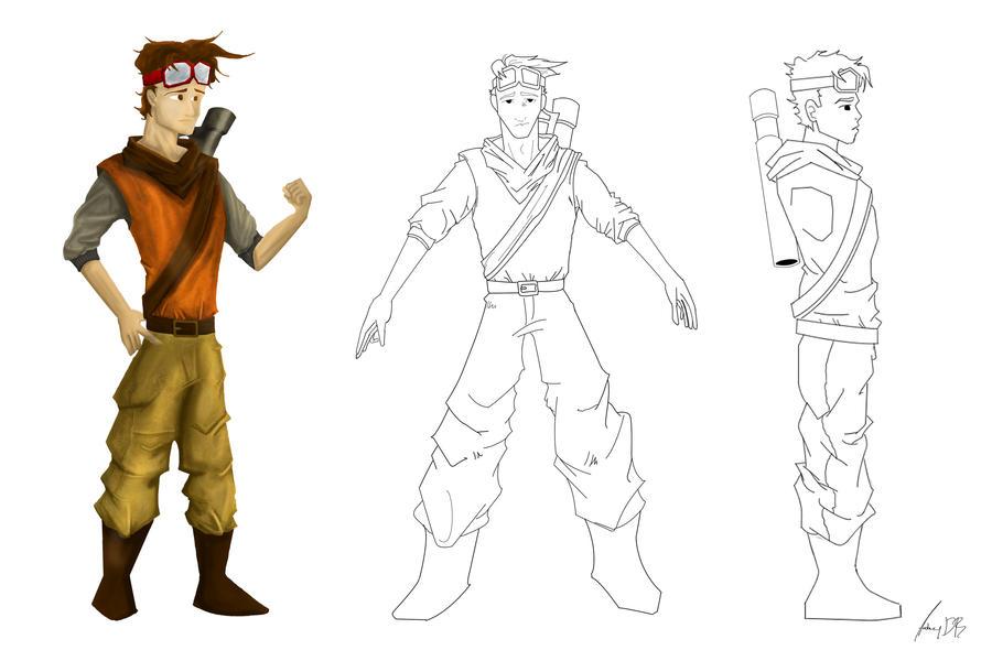 2d Character Design Software Free Download : Character design in d by dede on deviantart
