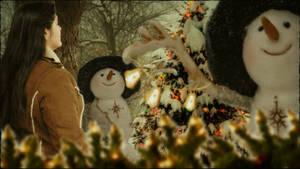 Feliz Navidad los hombres de nieves