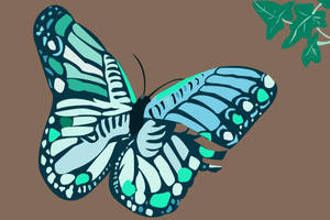 Butterfly and Ivy by MrsRiordan