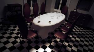 Alice's dollhouse: dining room