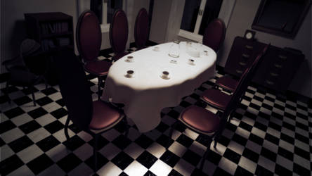 Alice's dollhouse: dining room by ark4n