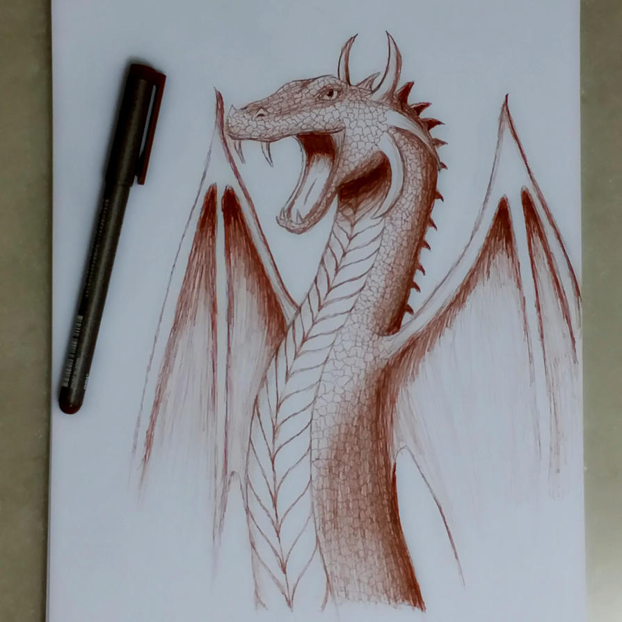 Snake Dragon / Wyvern Concept Sketch by ark4n