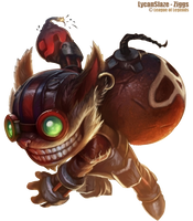 LoL Ziggs Render by V-Slaze