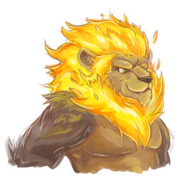 Mister Flaming Lion by Eltharion