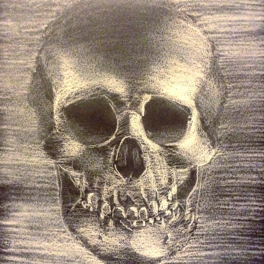 Chalk Skull by RobSThompson