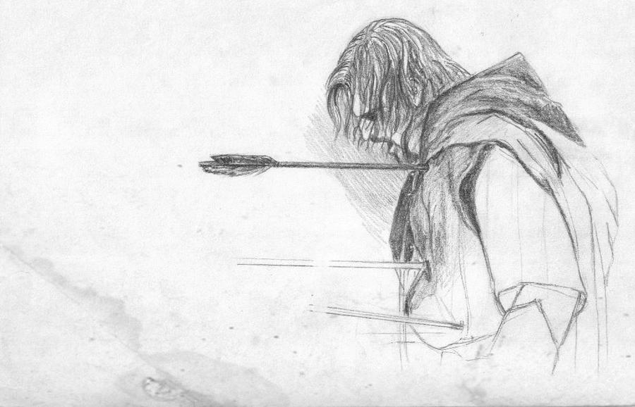 Image result for boromir death drawing