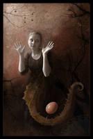 Seahorse and Egg by temabina