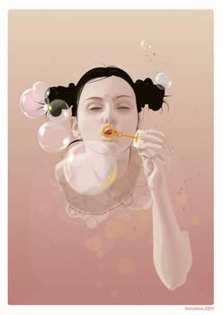 Bubble Girl Vector