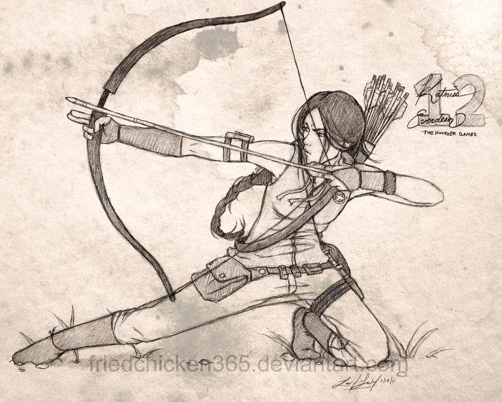 Katniss Everdeen by friedChicken365