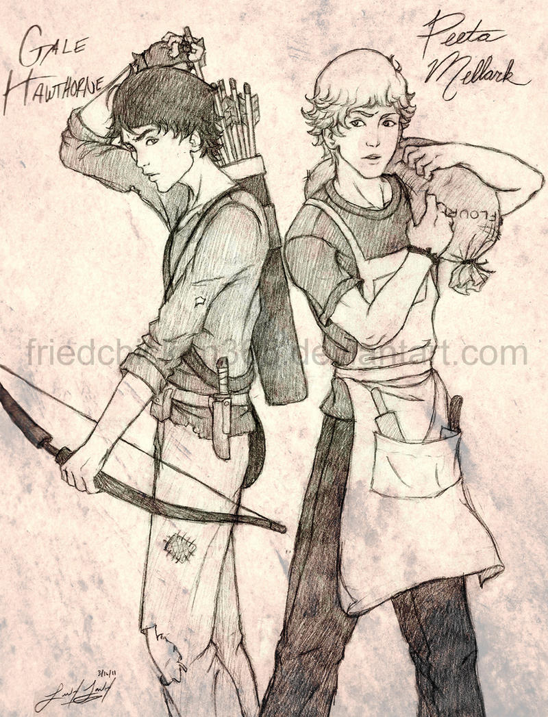 Gale and Peeta by friedChicken365