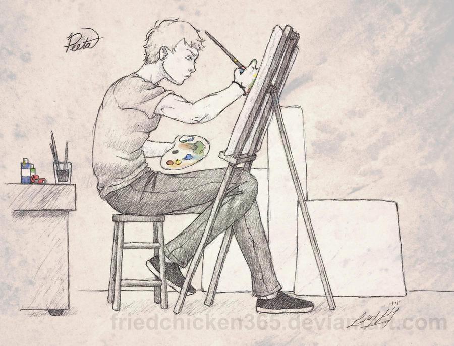 Peeta the Painter by friedChicken365
