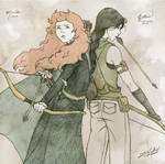 Merida and Katniss