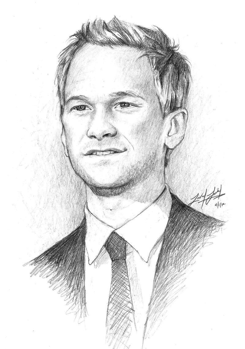 Barney Stinson Drawing Headshot Www Topsimages Com