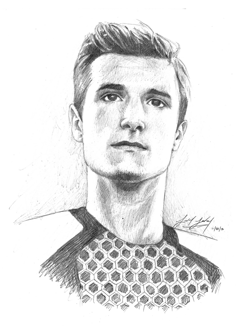 Josh Hutcherson As Peeta Mellark By Friedchicken365 On