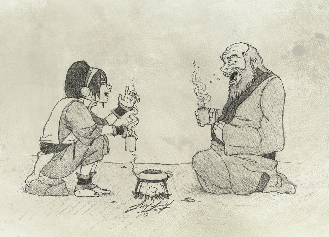Iroh and Toph by friedChicken365