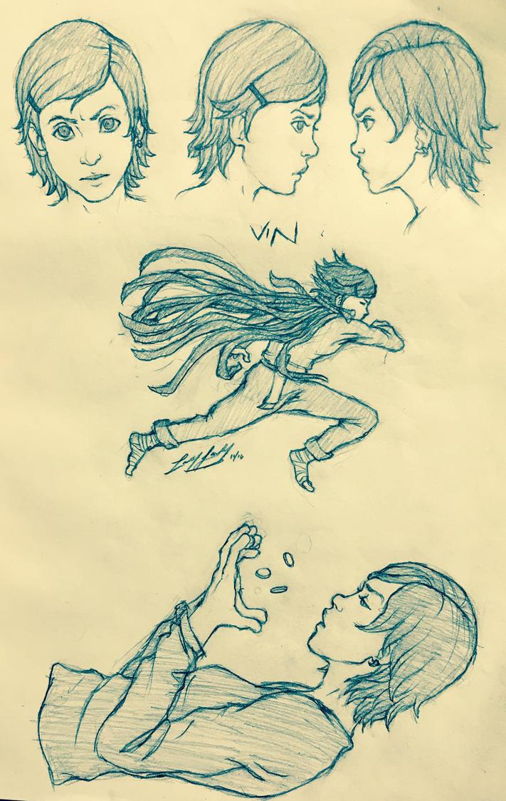 Mistborn: Vin Sketches by friedChicken365