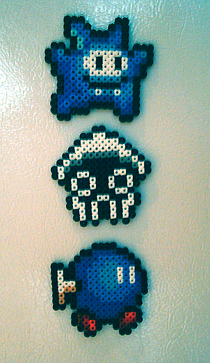 Beaded baddies by Too-Much-Bowser