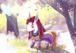 Aloy the Unicorn Horizon Forbidden West Fan art01