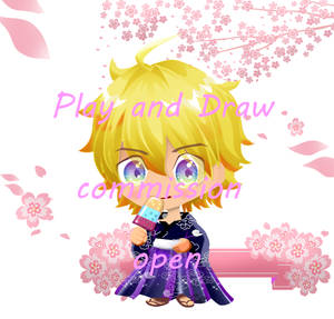 Commission Male Chibi in yugata with background